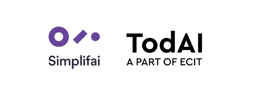 Simplifai and todAI, a part of ECIT enters partnership