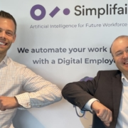 from left: Stian Hovda Bergersen, Head of Sales Norway Simplifai, Daniel Kohn, CCO at Simplifai