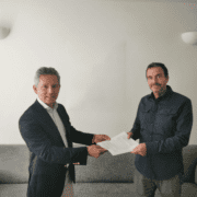 Bob Zonneveld Sales Manager Benelux Simplifai and Paul Schindeler, CEO at Data Matters